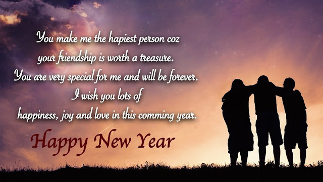 Happy New Year Wishes for Friends !