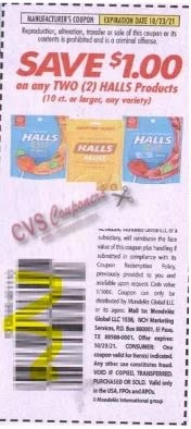 """$1.00/2 Halls Coupon from """"SMARTSOURCE"""" insert week of 9/12/21"""