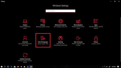 Menambahkan bahasa arab di Windows