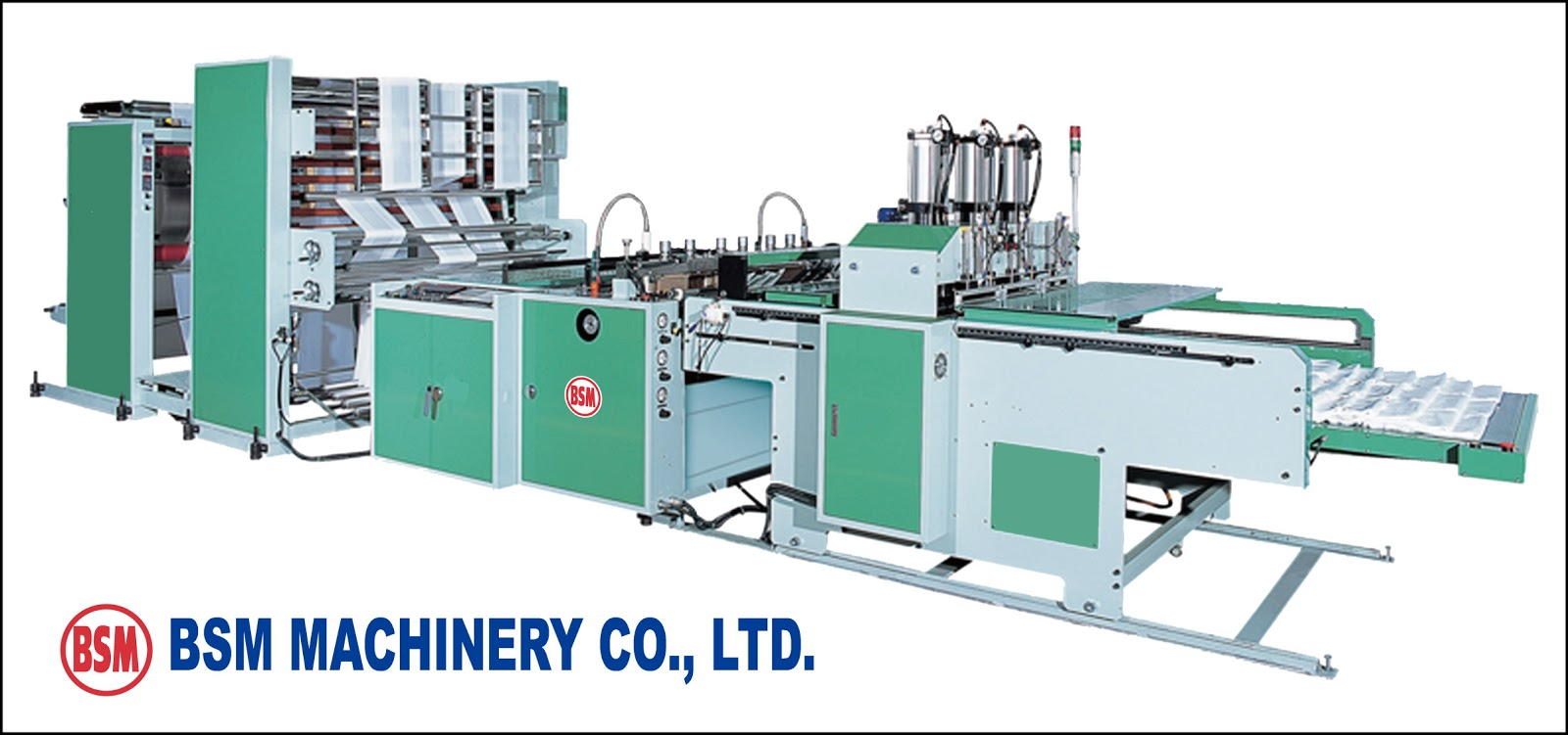 Two lines T-Shirt Bag Making Machine With Hot Slitting & Gusseting Unit