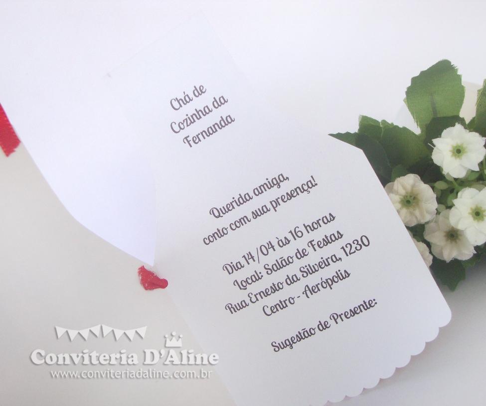 convite avental para cha de panela