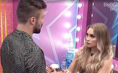 Arthur se declara para Carla Diaz no BBB21 e afirma: 'Eu me apaixonei'