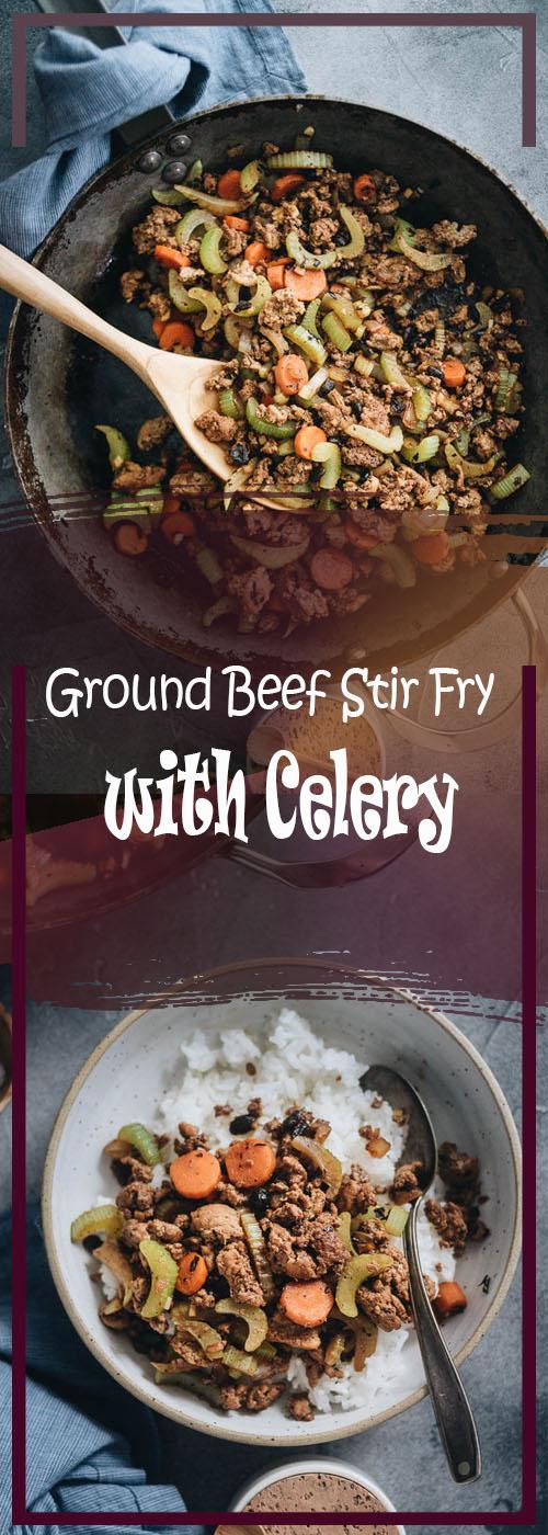 Ground Beef Stir Fry with Celery Recipe