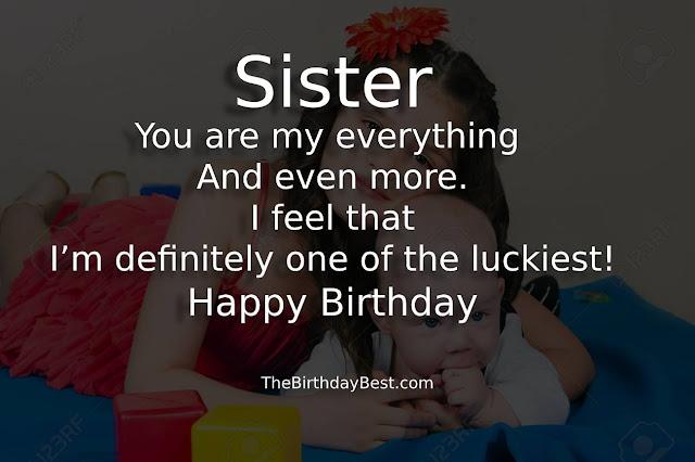Happy birthday, Big sister