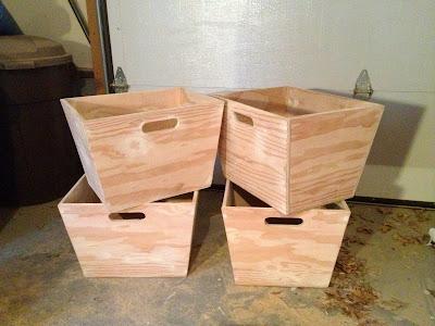 natural wood mudroom bins