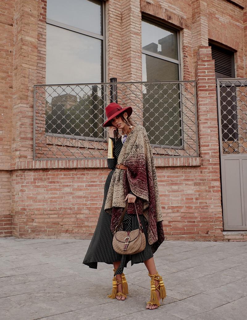 Model Kaya Dukic appears in an editorial called 'Bohem Etki'