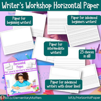 https://www.teacherspayteachers.com/Product/Writers-Workshop-Horizontal-Paper-180061?utm_source=elementarymatters%20blog&utm_campaign=Horizontal%20Paper