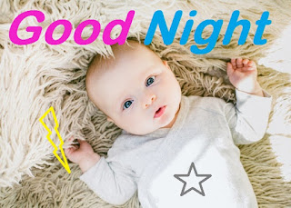 good night images of cute girl