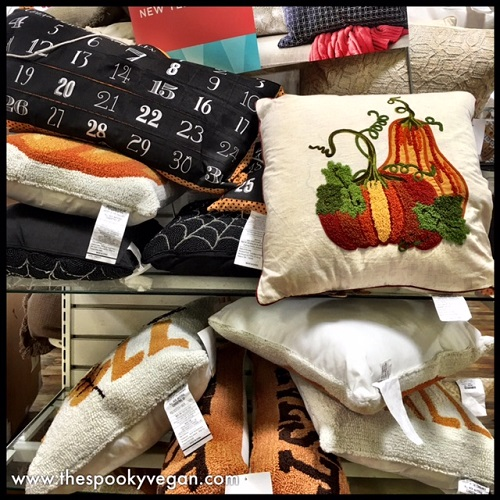 autumn and halloween pillows the one with numbers is a countdown calendar