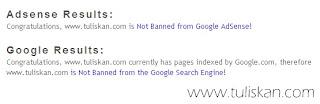 Cara Mengetahui/Mengecek Blog kita dibanned oleh Google