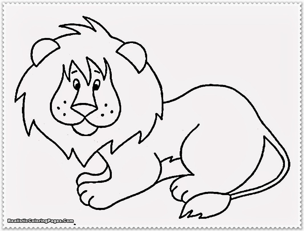 Realistic jungle animal coloring pages realistic for Animals coloring page