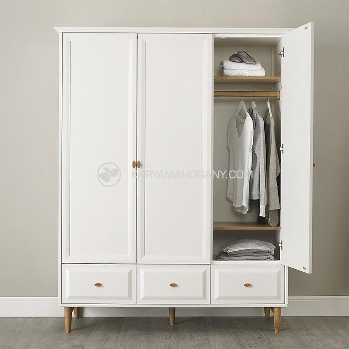 Lemari Pakaian Putih Minimalis | Jual Lemari Pakaian