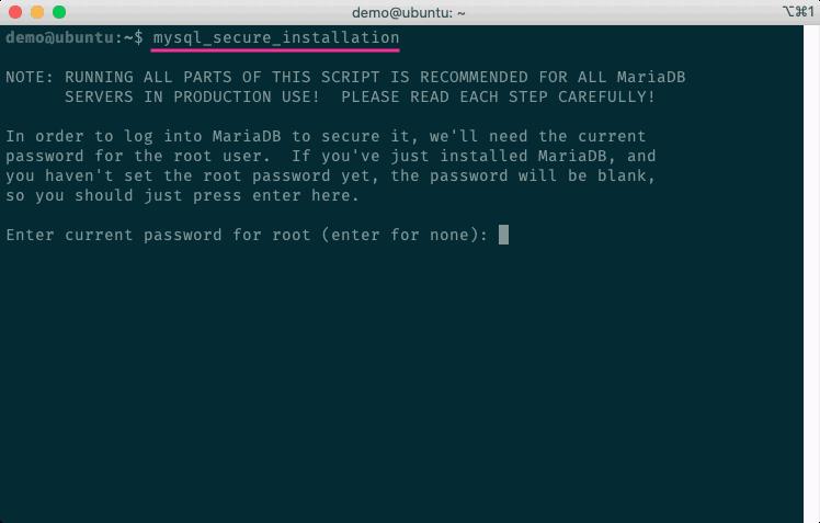 執行MySQL/MariaDB安全性設定