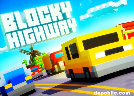 Blocky Highway Traffic Racing v1.2.2 Para Hileli Apk İndir