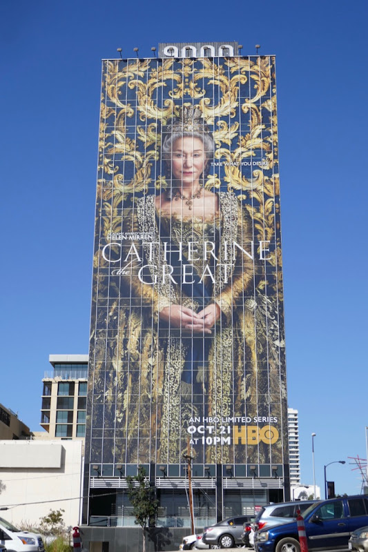 Giant Helen Mirren Catherine the Great billboard