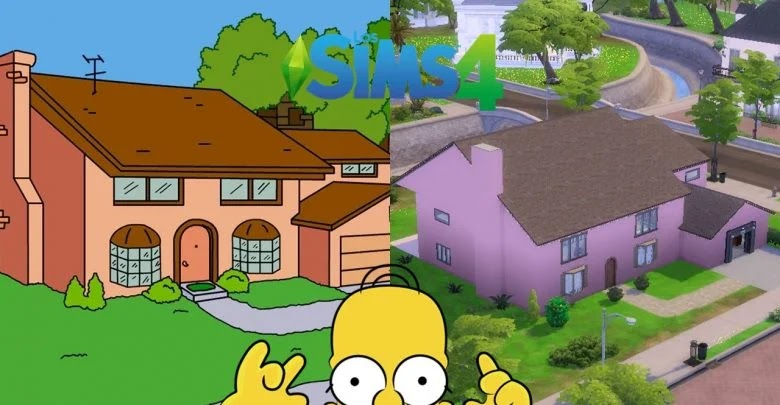 How to make The Simpsons house in The Sims 4