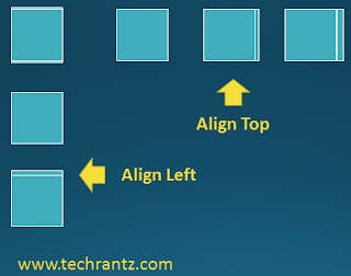 "Image showing the improper alignment results using ""Align Left"" and ""Align Top"""