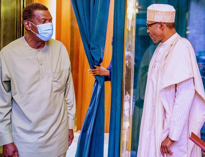 RCCG General Overseer, Pastor Adeboye, Visits President Buhari In Aso Rock