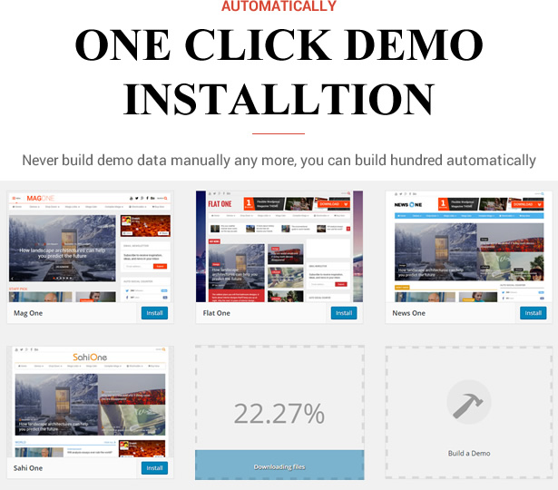 Sneeit Framework Plugin - Back-End for WordPress Themes - One Click Demo Installation