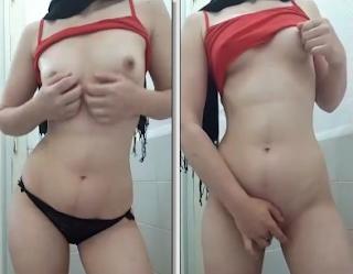 Türbanlı Liseli Gül Periscopede Tuvalette Masturbasyon Yapıyor Bomba İfşa Video