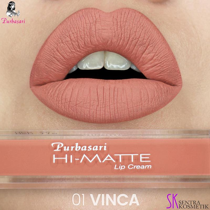 Bibir tebal dan seksi Purbasari Hi-Matte Lip Cream