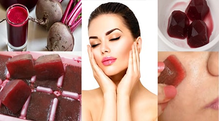 Beetroot Ice Cube for Glowing, Spotless and Pimple Free Skin