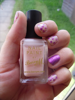 Barry M - nude - Sparkly nails - nail art