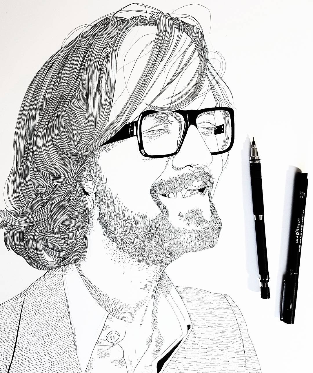 Jarvis Cocker Drawing