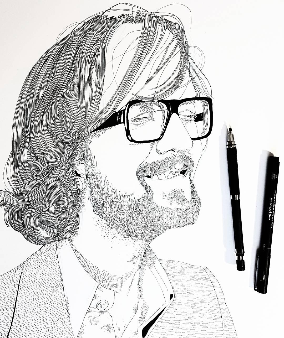 Jarvis Cocker Drawing