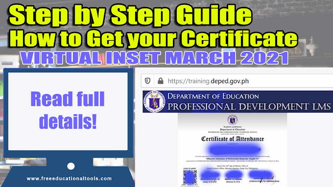 Step by Step Guide on How to get your INSET Certificates [DepEd Virtual INSET March 2021]