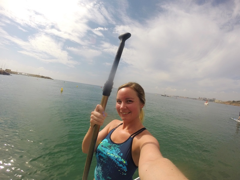 Stand up paddleboarding at Cabo Roig beach