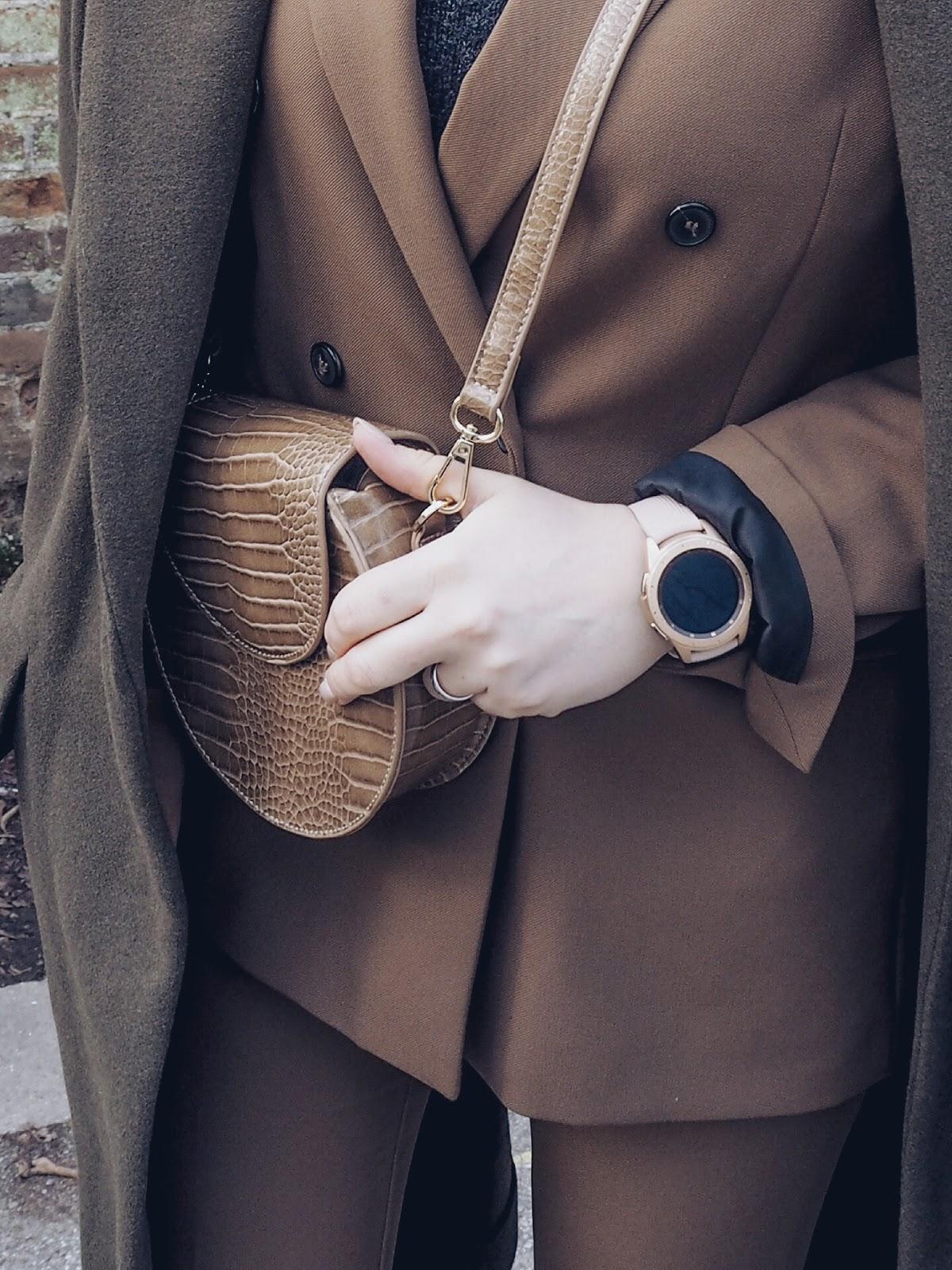 Camel suit in winter #lotd czyli karmelowy garnitur w roli głównej
