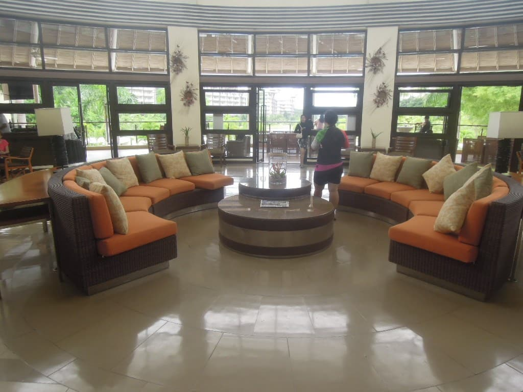 Inside the country club of Pico de Loro Beach & Country Club