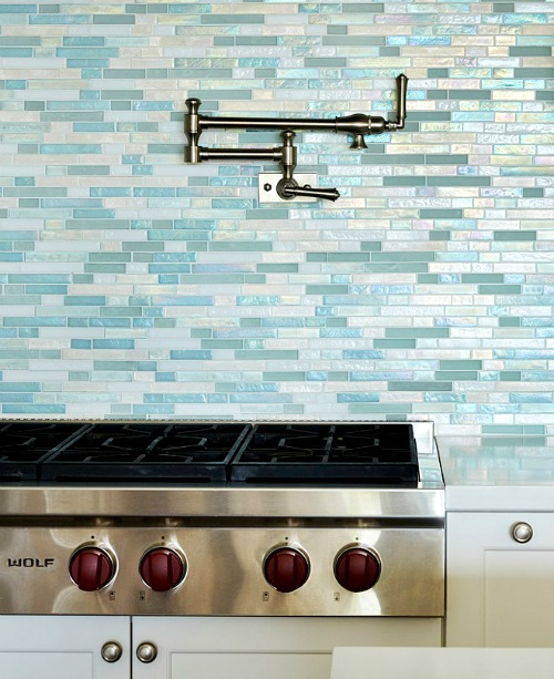 Turquoise Blue Kitchen Backsplash Tiles
