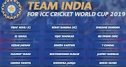 Indian Squad for ICC Cricket World Cup 2019