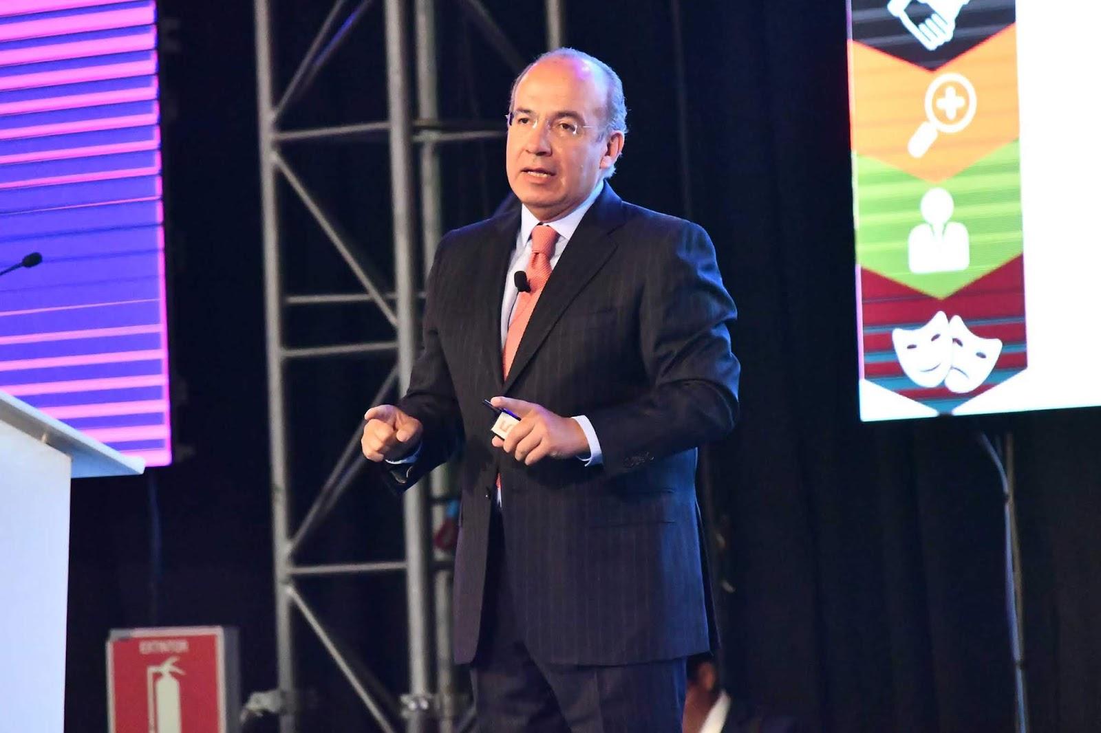 declaraciones polémicas de Felipe Calderón en IBTM Américas 2019