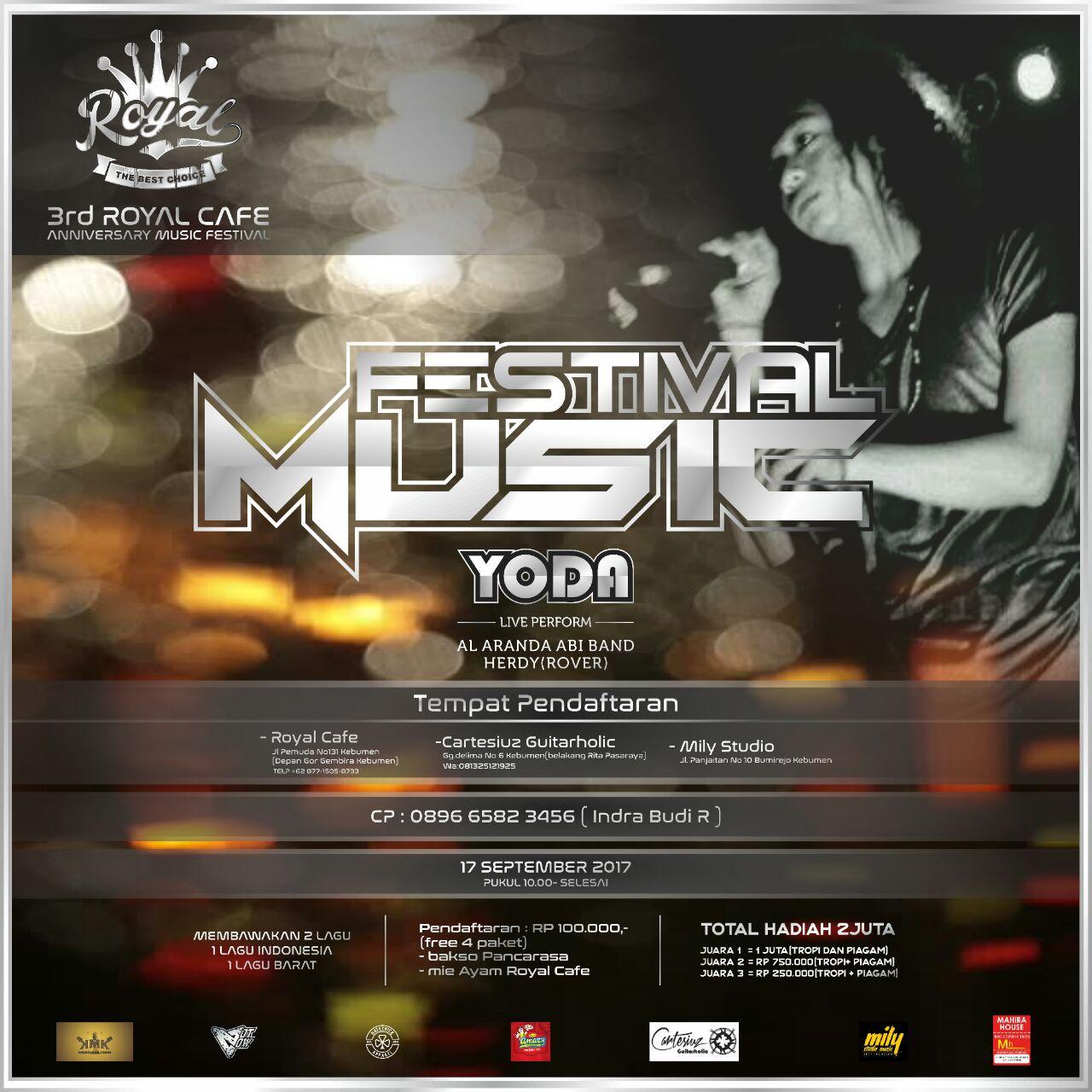 Yoda Idol Bakal Meriahkan Festival Music Royal Cafe