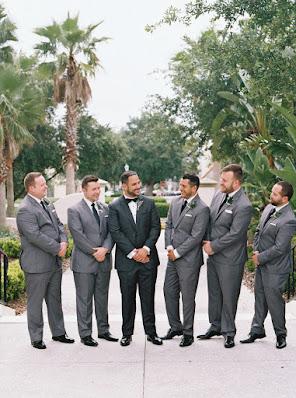groomsmen posing before ceremony