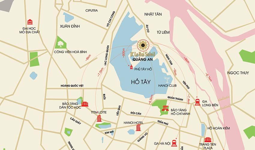 Vị trí chung cư Tân Hoàng Minh Quảng An Đặng Thai Mai
