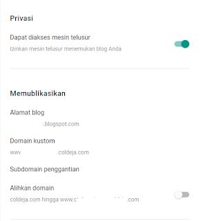 custom subdomain blogger