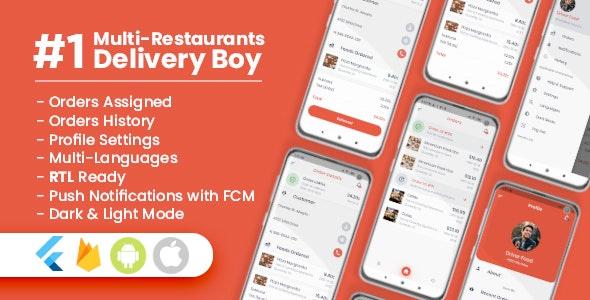 Download Delivery Boy For Multi-Restaurants Flutter App v1.0.0