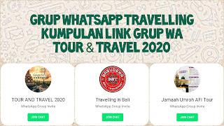 link grup whatsapp travelling