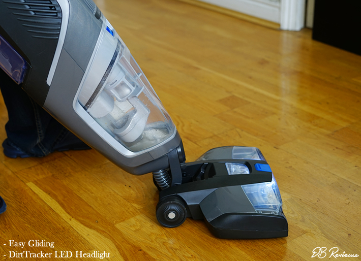 VAX ONEPWR Glide Hard Floor Cleaner - LED headlights