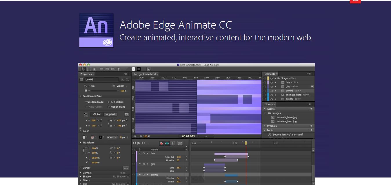 Adobe Edge Animate CC 2015 Free Download - Softwares Free Download