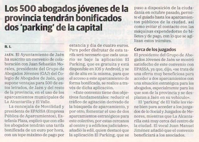 Convenio entre EPASSA y GAJ Jaén