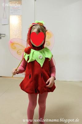 Häkeln: selbstgemachter Erdbeer-Feenstab zum Fasching