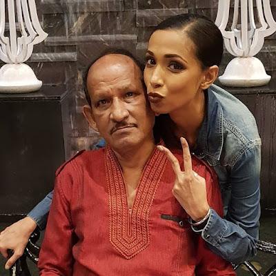 Revathi Acharya with father