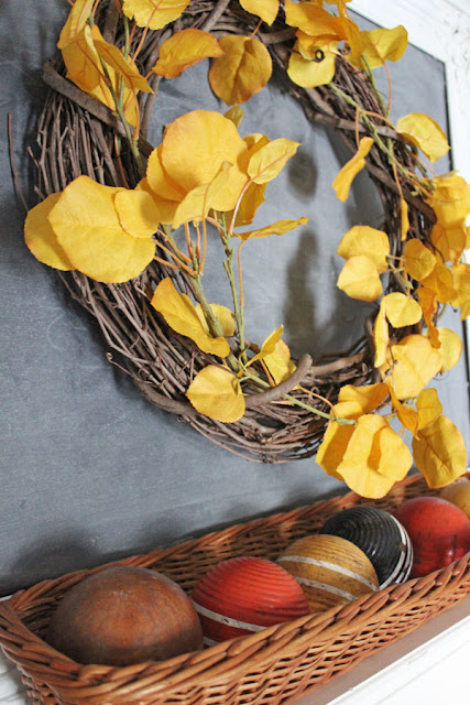 A Simple Fall Mantel From Itsy Bits And Pieces Blog