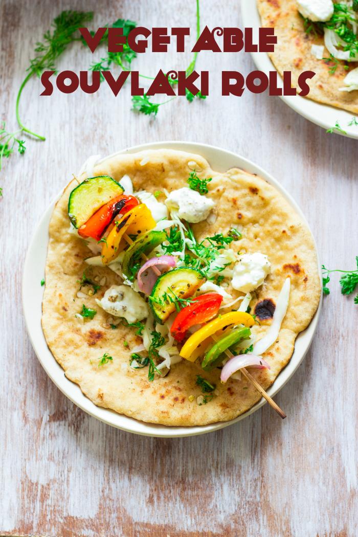 How to make vegetable souvlaki recipe, souvlaki gyros, vegetarian souvlaki recipe, vegan souvlaki recipe at www.oneteaspoonoflife.com