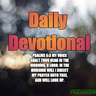 Today's Devotion |Wed| [PRAYING FOR YOUR CHILDREN]